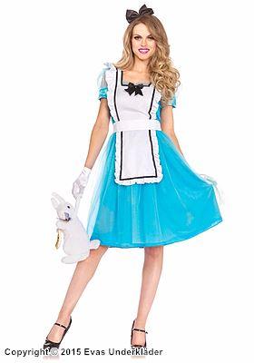 Alice i Underlandet-klänning, maskeraddräkt